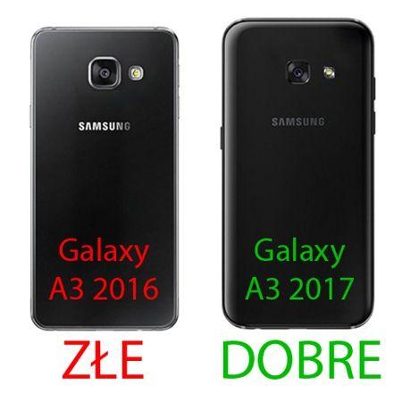 Pancerne etui na Galaxy A3 2017 - Srebrny.