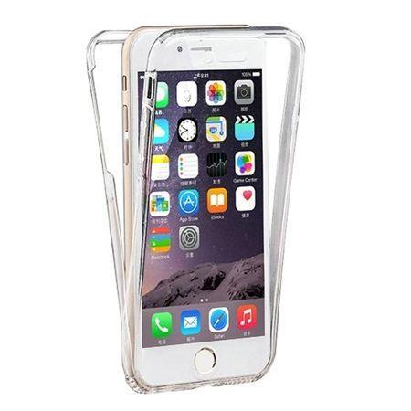 Etui na iPhone 7 silikonowe 360 Full przód i tył - przezroczyste