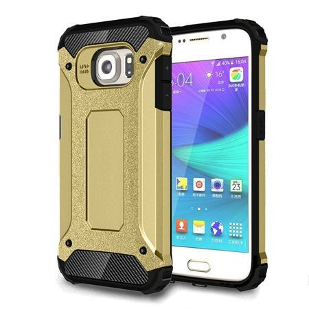 Pancerne etui na Samsung Galaxy S6 Edge - Złoty.