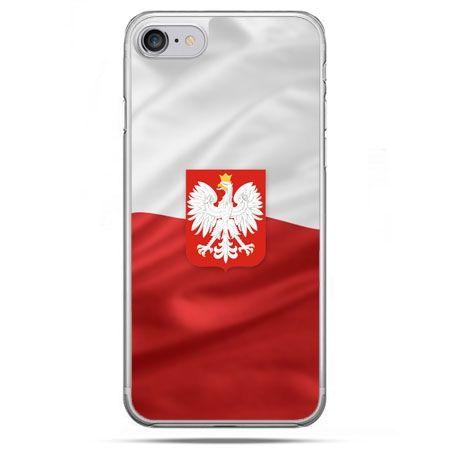 Etui na telefon iPhone 8 - flaga Polski z godłem