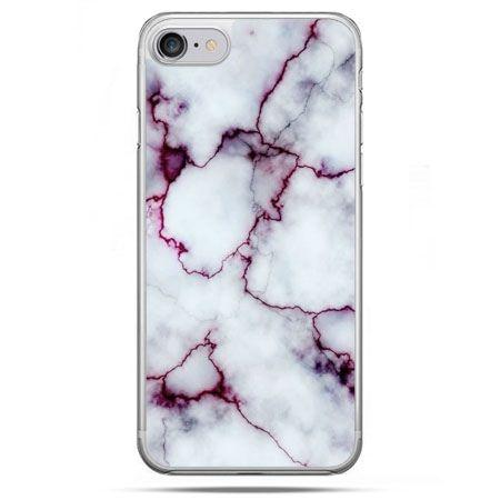 Etui na telefon iPhone 8 - różowy marmur
