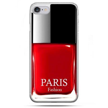 Etui na telefon iPhone 8 - lakier do paznokci czerwony