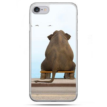 Etui na telefon iPhone 8 - zamyślony słoń