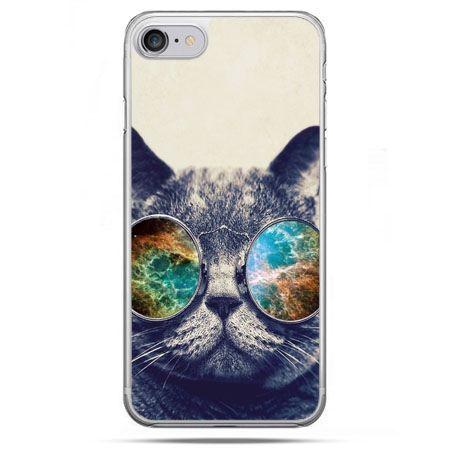 Etui na telefon iPhone 8 - kot w tęczowych okularach