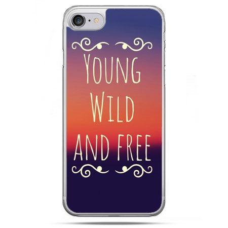 Etui na telefon iPhone 8 - Young wild and free