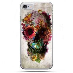 Etui na telefon iPhone 8 - czaszka z kwiatami