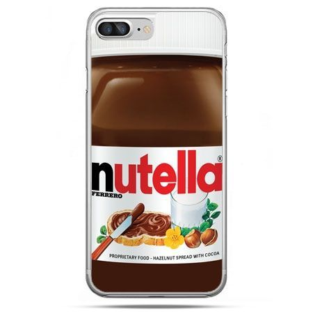 Etui na telefon iPhone 8 Plus - Nutella czekolada słoik