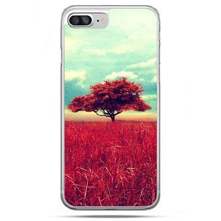 Etui na telefon iPhone 8 Plus - czerwone drzewo