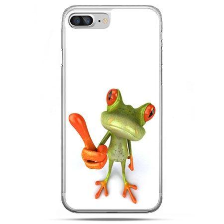 Etui na telefon iPhone 8 Plus - śmieszna żaba