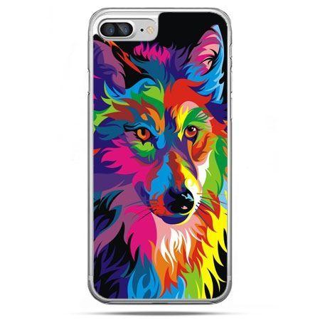 Etui na telefon iPhone 8 Plus - neonowy wilk