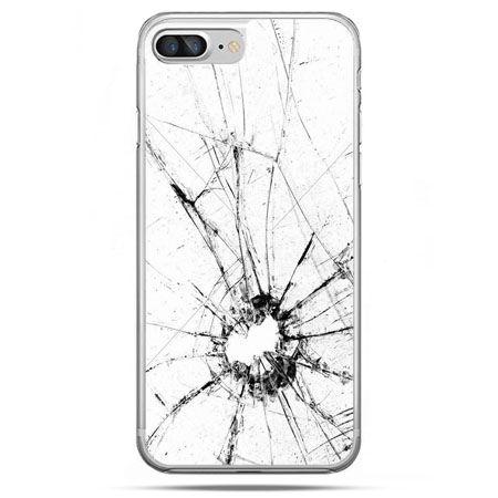 Etui na telefon iPhone 8 Plus - rozbita szybka