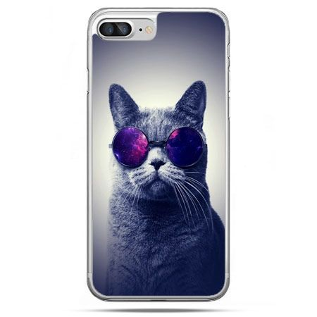 Etui na telefon iPhone 8 Plus - kot hipster w okularach