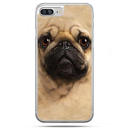 Etui na telefon iPhone 8 Plus - pies szczeniak Face 3d