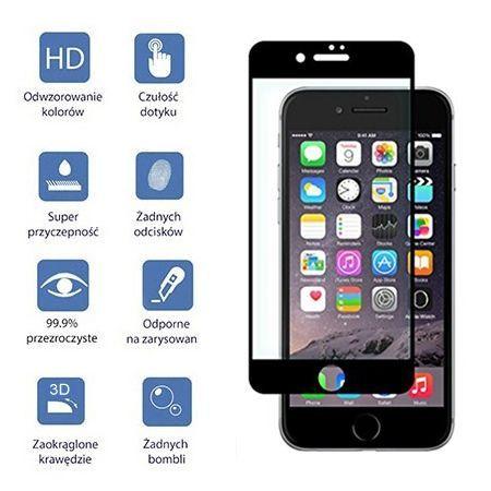 Hartowane szkło na cały ekran 3d iPhone 8 Plus - Czarny.