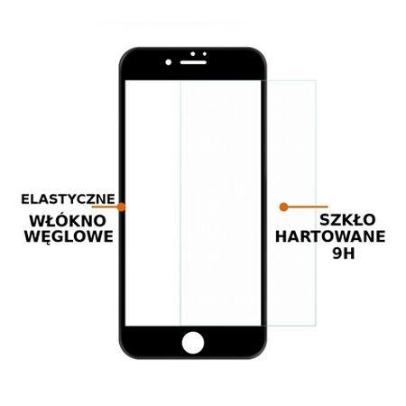 Hartowane szkło na cały ekran 3d iPhone 8 Plus - Złoty.