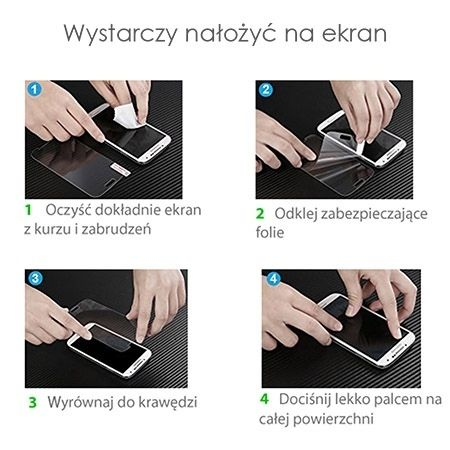iPhone 7 Plus folia ochronna poliwęglan na ekran.