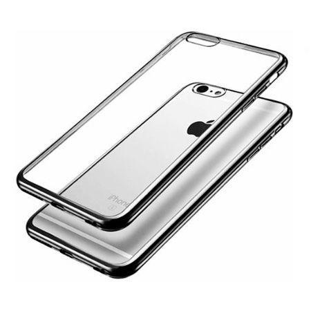 iPhone 8  silikonowe etui platynowane SLIM - Grafitowy.