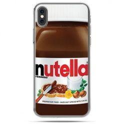 Etui na telefon iPhone X - Nutella czekolada słoik