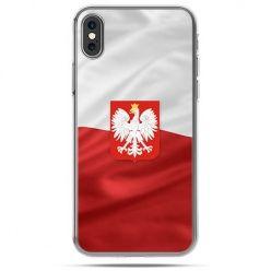 Etui na telefon iPhone X - flaga Polski z godłem
