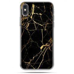 Etui na telefon iPhone X - złoty marmur