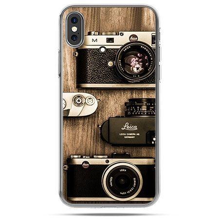 Etui na telefon iPhone X - aparaty retro