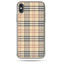 Etui na telefon iPhone X - kratka Burberry