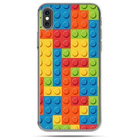 Etui na telefon iPhone X - kolorowe klocki
