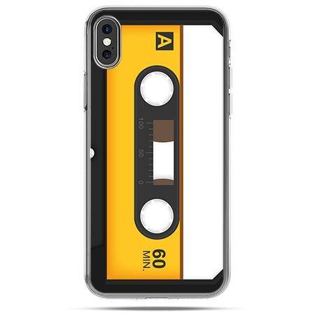 Etui na telefon iPhone X - kaseta magnetofonowa