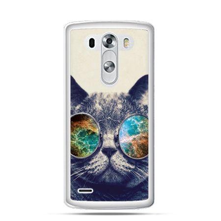 Etui na LG G3 Kot w tęczowych okularach - Promocja !!!