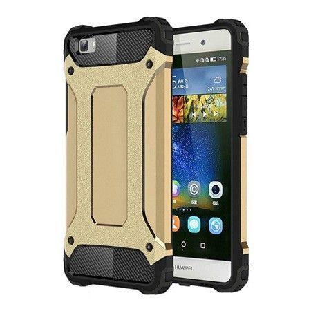 Pancerne etui na Huawei P8 - Złoty.