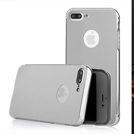 Mirror bumper case na iPhone 7 Plus - Srebrny