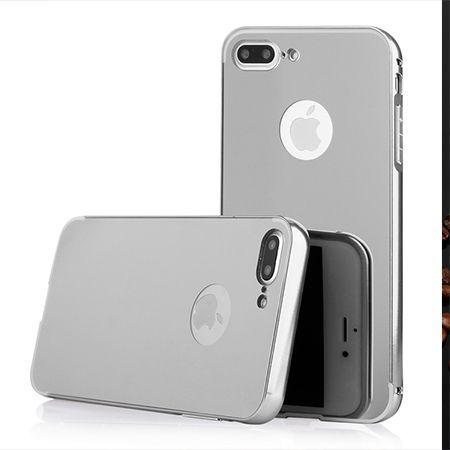 Mirror bumper case na iPhone 8 Plus - Srebrny