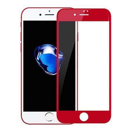 Hartowane szkło na cały ekran 3d iPhone 8 Plus - Czerwony.