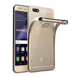 Huawei P9 Lite mini -  etui silikonowe platynowane SLIM tpu - Złoty.
