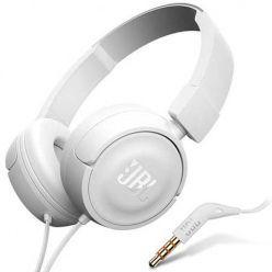 Nauszne słuchawki z mikrofonem JBL - Białe.