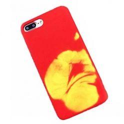 Termiczne etui na iPhone 7 Plus elastyczne - czerwony.