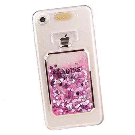 Etui na iPhone 7 z płynem w środku brokat Perfume.