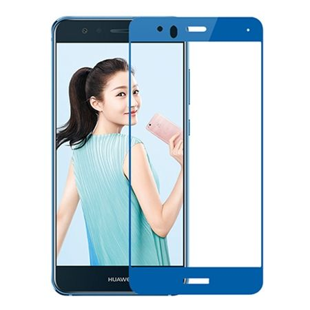 Hartowane szkło na cały ekran 3d Huawei P10 Lite - Niebieski.