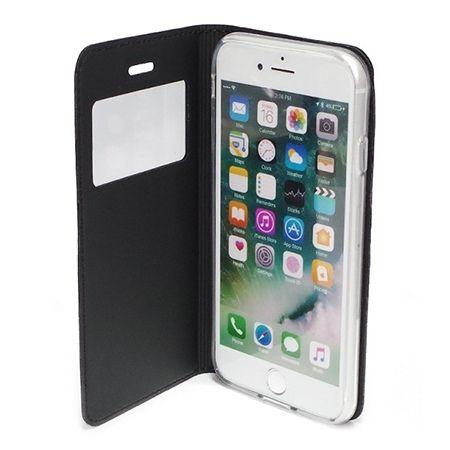 Etui na iPhone 8 -  S View z klapką - Czarny.