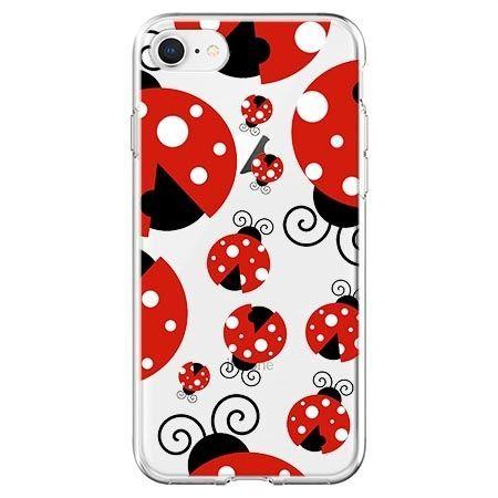 Etui na telefon - czerwone wesołe biedronki.