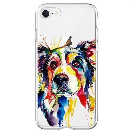 Etui na telefon - watercolor pies.