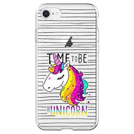 Etui na telefon - time to be unicorn - jednorożec.