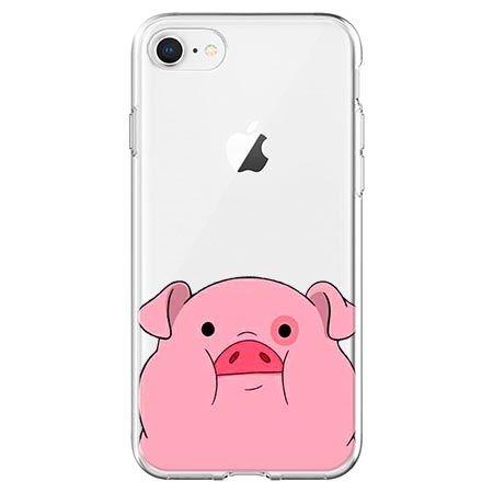 Etui na telefon - słodka różowa świnka.