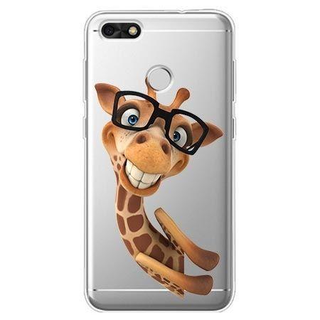 Etui na Huawei P9 Lite mini - wesoła żyrafa w okularach.
