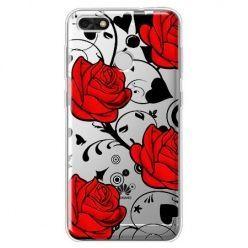 Etui na Huawei P9 Lite mini - czerwone róże.