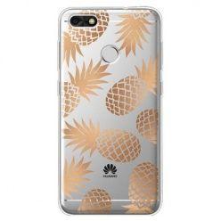 Etui na Huawei P9 Lite mini - złote ananasy.