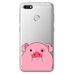Etui na Huawei P9 Lite mini - słodka różowa świnka.