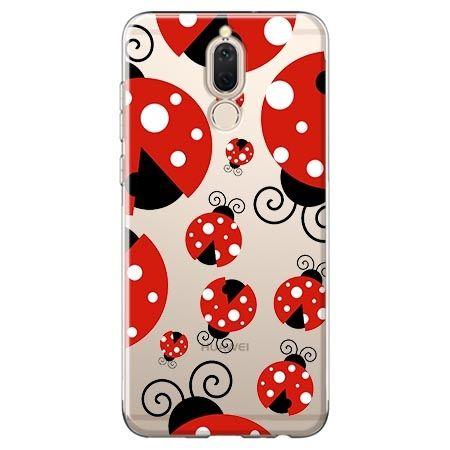 Etui na Huawei Mate 10 lite - czerwone wesołe biedronki.