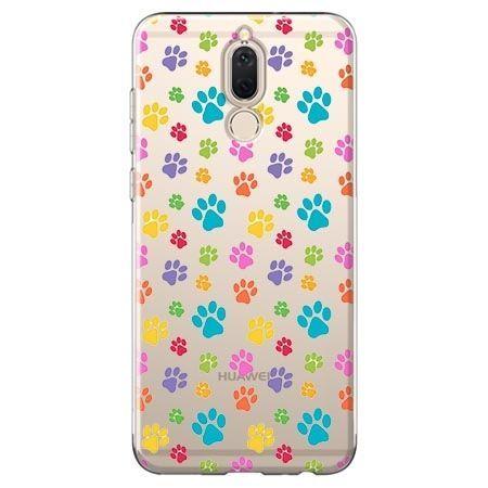 Etui na Huawei Mate 10 lite - kolorowe psie łapki.