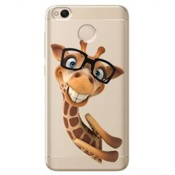 Etui na Xiaomi Redmi 4X - wesoła żyrafa w okularach.